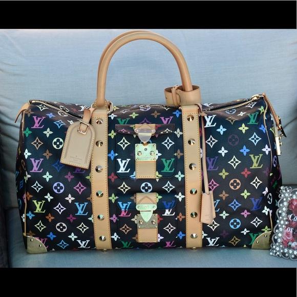 27f501bb7b5 Louis Vuitton Bags | Keepall 45 Murakami Multicolor Noir | Poshmark